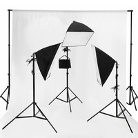 Continuous Boom Soft Box Kit 3 Bulb Set + 1 3m x 6m Cotton Muslin 150g