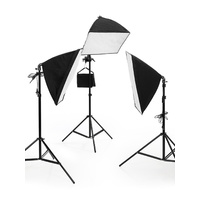 50 x 70 CM Soft Box Studio Lights Continous Lighting With Boom Light + 3 x 125W Bulbs
