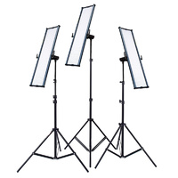 3x Boling BL-2280P LED Panel Light for Videography/Photography Kit