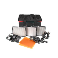 Aputure AL-528W x 2 AL-528S x 1 Video Lighting Kit HR528