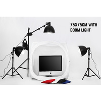 Tent Cube Package 75cm x 75 cm With Boom Light