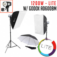 2 x Godox AD600BM Studio Flash Kit - LITE