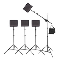 4 x Aputure AL-528W Video Lighting Boom Kit