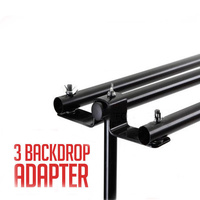 Three Backdrop Adaptor Kit for Background Backdrop Stands