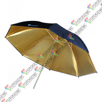 43'' Black/Gold Reflective Photography Umbrella