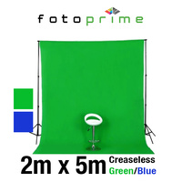 Premium Creaseless 2m x 5m Green/Blue Double Sided Chroma Video Muslin