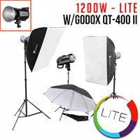 1200W 3x Jinbei HD610 Studio Flash Monoblock Kit - Lite