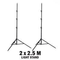 2 x Fotoprime Studio Lighting Stand Kit - 2.5m