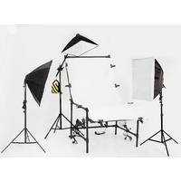 1M x 2M Non Reflective Shooting Table Soft Box Package 3375W perspex