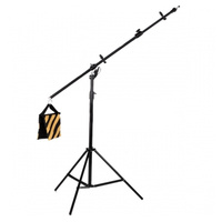 2.3m Reflector Stand With Overhead Boom Arm with additonal Light Spigot for hanging lights