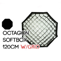 Collapsible Octagon Soft Box 120cm with Grid