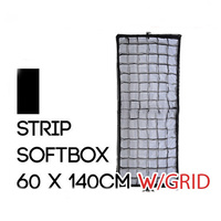 Collapsible Rectangle Soft Box 60cm x 140cm with Grid