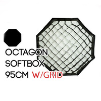 Collapsible Octagon Soft Box 95cm with Grids