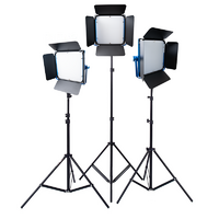3x NiceFoto SL-600A kit Compact Led Light panel Bi-colour