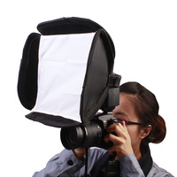Portable Pop-Up Speedlight Softbox 26cm x 26cm