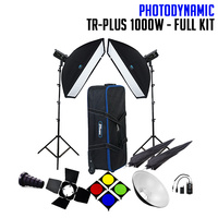 PhotoDynamic TR-Plus 1000W x 2 Studio Lighting Kit - FULL