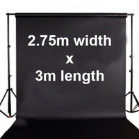 Fotoprime Premium Vinyl Background Backdrops 2.75m x 3m Black 510gsm