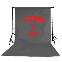 Fotoprime Premium Vinyl Background Backdrops 2.75m x 3m Grey 510gsm