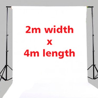 Fotoprime Premium Vinyl Background Backdrops 2m x 4m White 510gsm