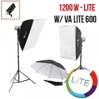 PhotoDynamic VA-Lite 600 x 2 Flash Kit LITE