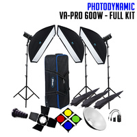PhotoDynamic VA-PRO 600W x 3 Studio Flash Lighting Kit - FULL