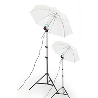 White 43'' Umbrella Kit Set x 2