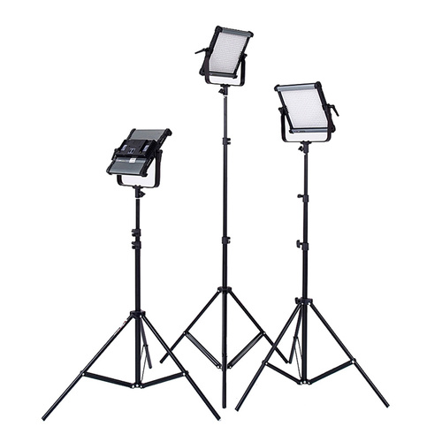 3x Boling BL-2220P LED Panel Kit with Lightstands