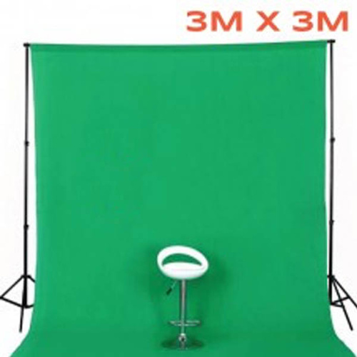 Photo Background 100% Cotton Muslin 3M X 3M Seamless Chroma Key Green