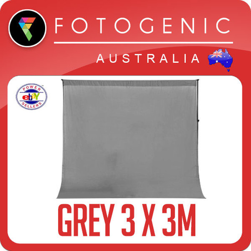 Photo Background 100% Cotton Muslin 3M X 3M Seamless GREY