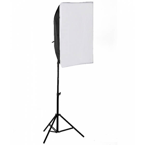4 Head Bulb Continuous Rectangle Soft Box Kit 1700W Video Photo Light