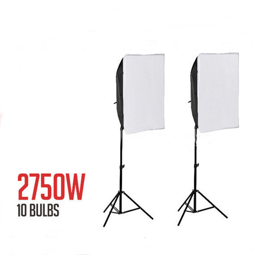 5 x 55W 5 Head Soft Box 2 Pack Lighting Continuous Fluro
