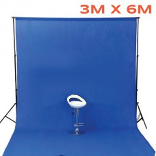 Photo Background 100% Cotton Muslin 3m x 6m Seamless Chroma Blue 150g pm2