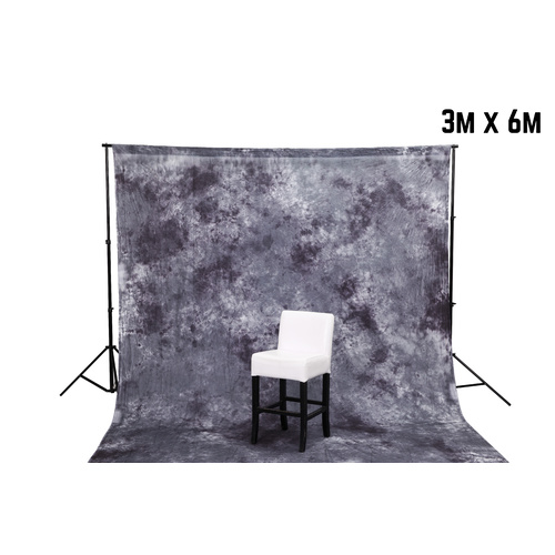 Backdrop Background Grey Cloud Effect Muslin 3m x 6m