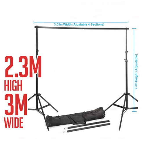 Background Backdrop Stand 2.3m (H) x 3.05 (W) For Photo Studio