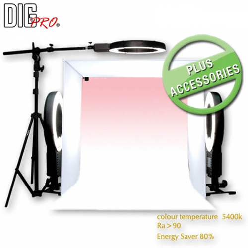 DigPro 60cm 3 Light Soft Lighting Studio Kit PLUS