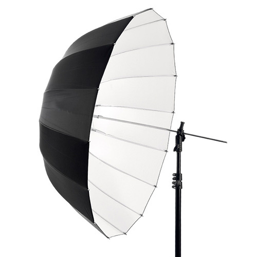 "67"" Deep Parabolic Black Outside White Internal Studio Photography Umbrella"