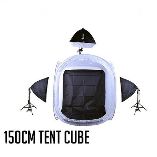 Light Tent Cube 150 x 150cm Boom Set