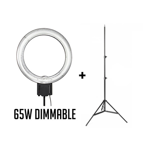 Fotoprime 65W Dimmable Diva Ring Boom Light Kit with 2.3m Studio Light Stand