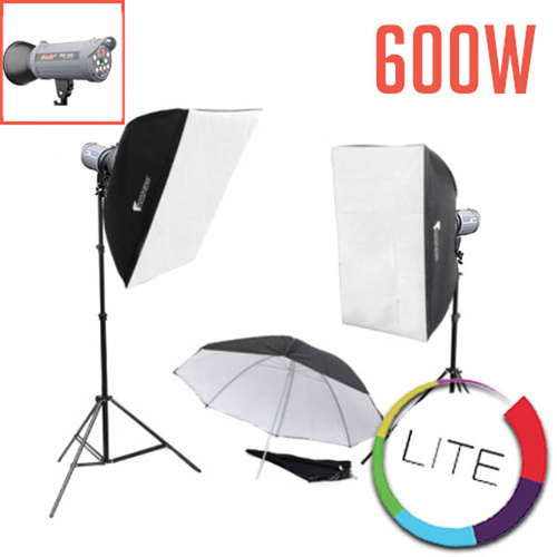 600w 2 Studio Flash Strobe Kit LITE