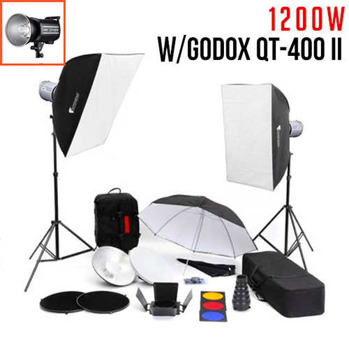 Godox QT400-II 400Ws Studio Flash Lighting Kit - FULL