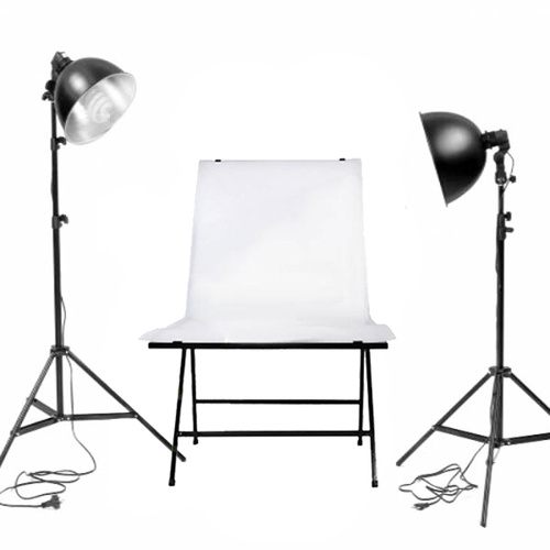 Non-Reflective Shooting Table 60 x 130cm Lighting Set