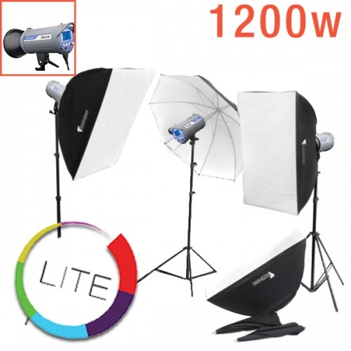 1200w 3 x Studio Flash Head Strobe Kit LITE Compact Menik SW 400w Monoblock